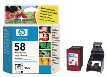HP 58 (C6658AE) inktcartridge foto (origineel)