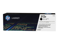 HP 312X - High Yield - black - original - LaserJet - toner cartridge ( CF380X ) - for Color LaserJet Pro MFP M476dn, MFP M476dw, MFP M476nw