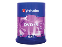 DVD+R Verbatim 4.7gb 16Speed Spindle 100Stuks