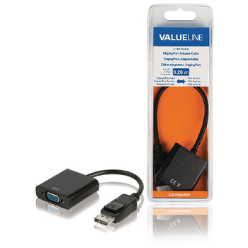 DisplayPort - VGA adapterkabel DisplayPort male - VGA female 0,15 m zwart