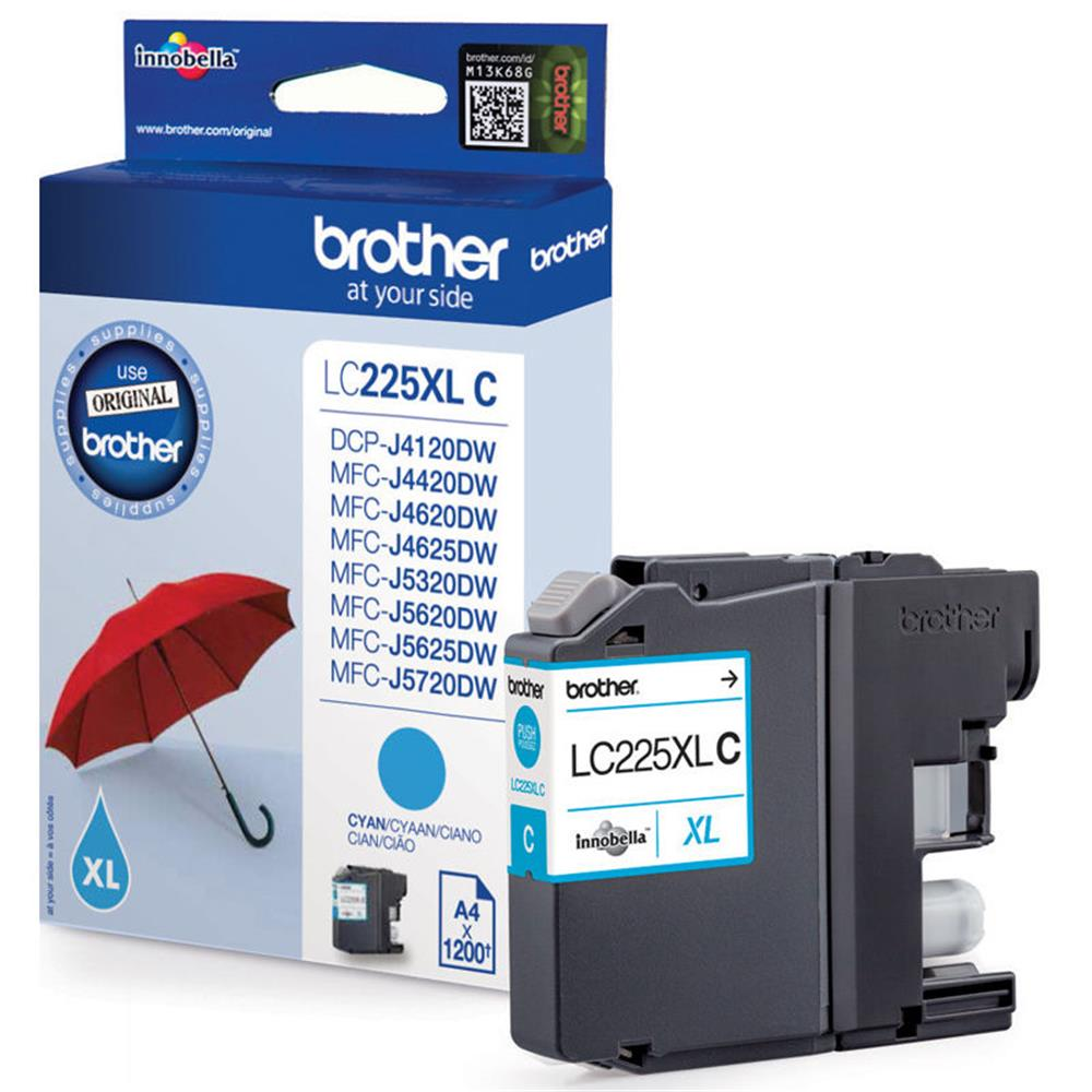 Brother LC225C XL 1200Pagina
