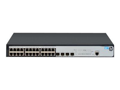 HP 1920-24G - Switch - L3 - Beheerd - 24 x 10/100/1000 + 4 x Gigabit SFP - rack-uitvoering