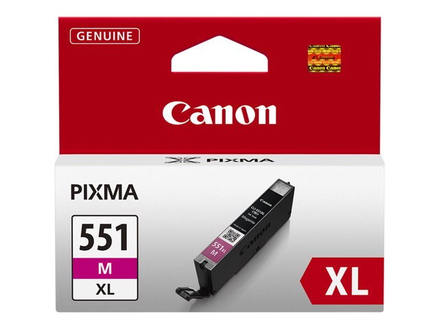 Canon CLI-551M-XL - Magenta - original - ink tank - for PIXMA iP8750, iX6850, MG5550, MG5650, MG5655, MG6450, MG6650, MG7150, MG7550, MX725, MX925