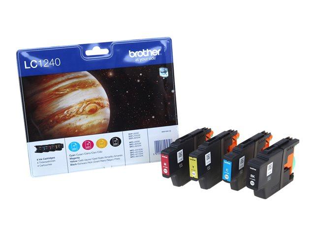 Brother LC1240 Value Pack - 4 - zwart, geel, cyaan, magenta - origineel - blister - inktcartridge - voor DCP J525W, J725DW, J925DW; MFC J430W, J5910DW, J625DW, J6510DW, J6710DW, J6910DW, J825DW