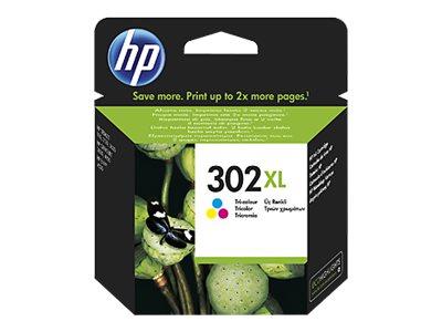 HP 302XL - Kleur (cyaan, magenta, geel) - origineel - inktcartridge