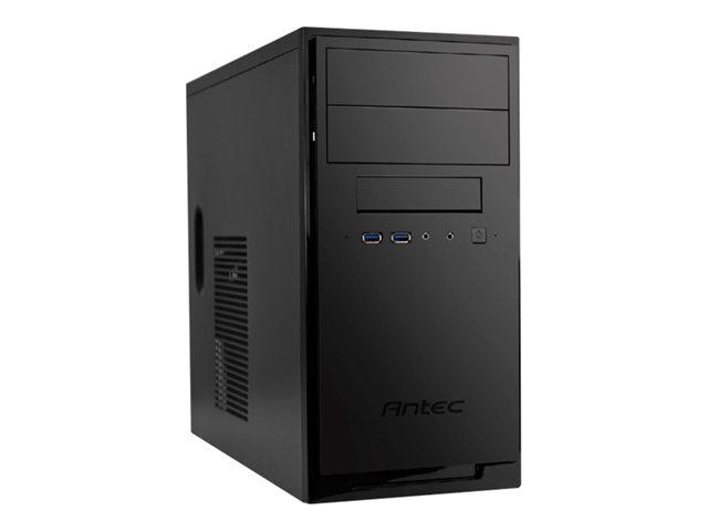 Antec New Solution NSK3100 - Midtowermodel - mini ITX / micro ATX - geen voeding - dof zwart