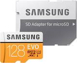 SAMSUNG MicroSD EVO - 128GB Class10 48MB/s +Adapter