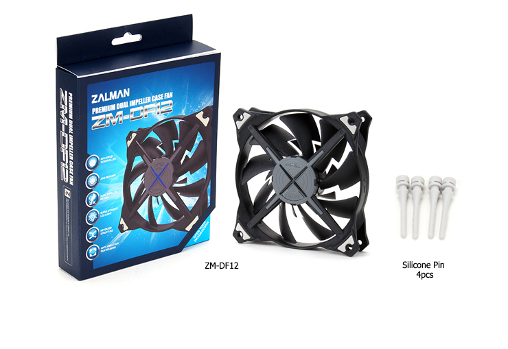 Zalman ZM-DF12 Dual Blade 120x120x25mm fan