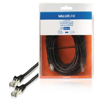 Valueline CAT6 F/UTP Netwerkkabel RJ45 (8/8) Male - RJ45 (8/8) Male 10.0 m Zwart