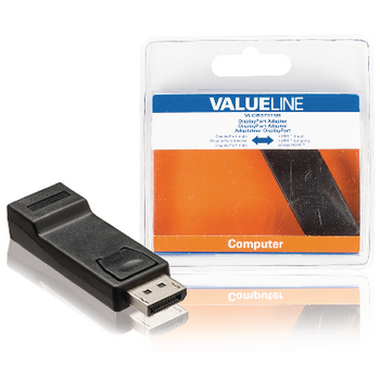 Valueline DisplayPort  Male - HDMI-Uitgang Zwart Adapter