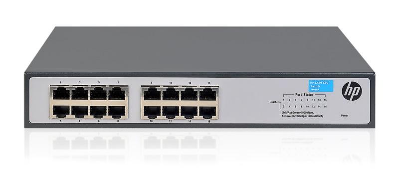 HPE 1420-16G - switch - 16 poorten - onbeheerd - desktop,rack-uitvoering