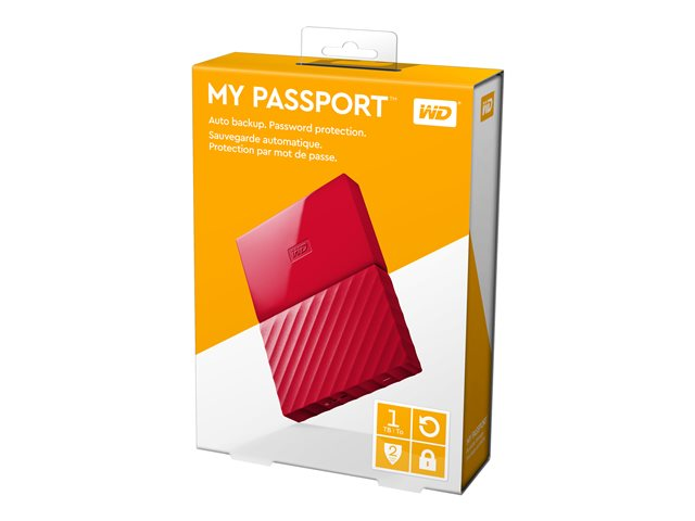 Western Digital My Passport 1 TB HDD USB 3.0 Red