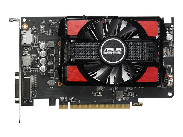 ASUS RX550-4G - Grafische kaart - Radeon RX 550 - 4 GB GDDR5 - PCIe 3.0 x16 - DVI, HDMI, DisplayPort