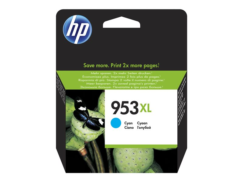 HP 953XL - hoog rendement - cyaan - origineel - inktcartridge