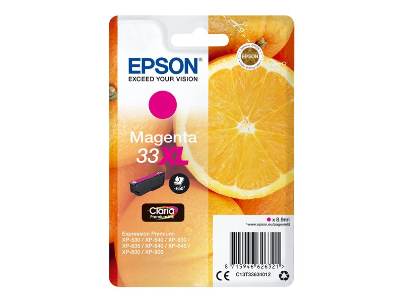 Epson 33XL - XL grootte - magenta - origineel - inktcartridge