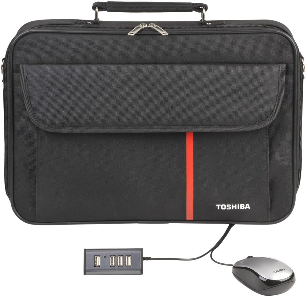 TOSHIBA 17.3i Notebook Starter Kit USB Hub, muis en tas
