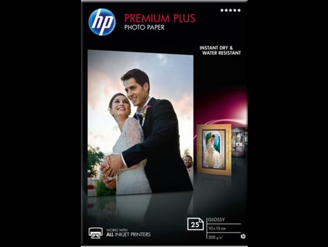 HP Premium Plus Photo Paper - hoogglanzend fotopapier - 25 vel CR677A