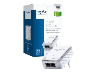 Devolo DLAN 500 duo Ethernet 500Mbit/s netwerkkaart & -adapter 1 adapter DEV-9116
