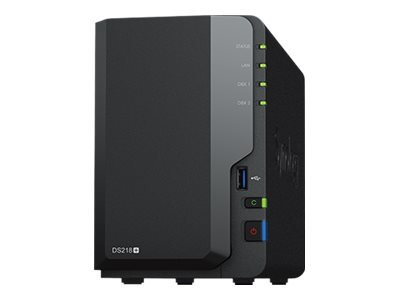 Synology DS218+ 2 bay 0, 1, JBOD celeron 2,0GHZ 2GB