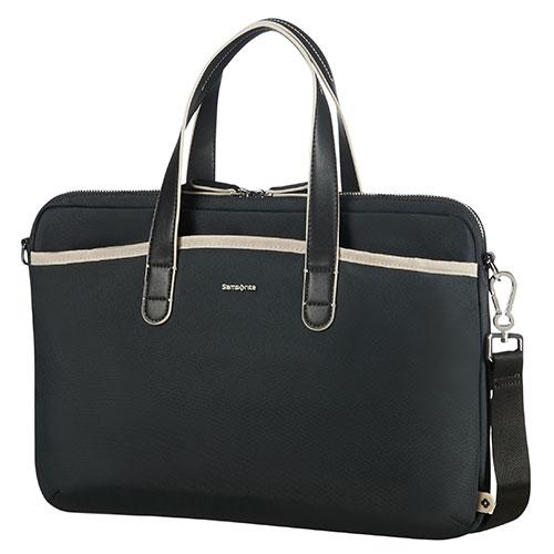 Samsonite CA892002 Nefti vrouwelijke business schoudertas 15,6 inch, zwart (SA1854)