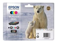 Epson 26XL Multipack - Print cartridge - 1 x black, yellow, cyan, magenta - for Expression Premium XP-600, XP-605, XP-700, XP-800