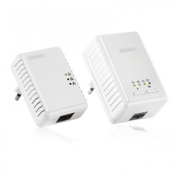 Eminent WiFi Powerline Starter Kit 500Mbps Mini Powerline Adapter
