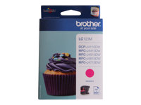 Brother LC123M - Print cartridge - High Yield - 1 x magenta - 600 pages - for DCP J132, J152, J552, J752; MFC J245, J4310, J470, J4710, J650, J6520, J6720, J6920, J870