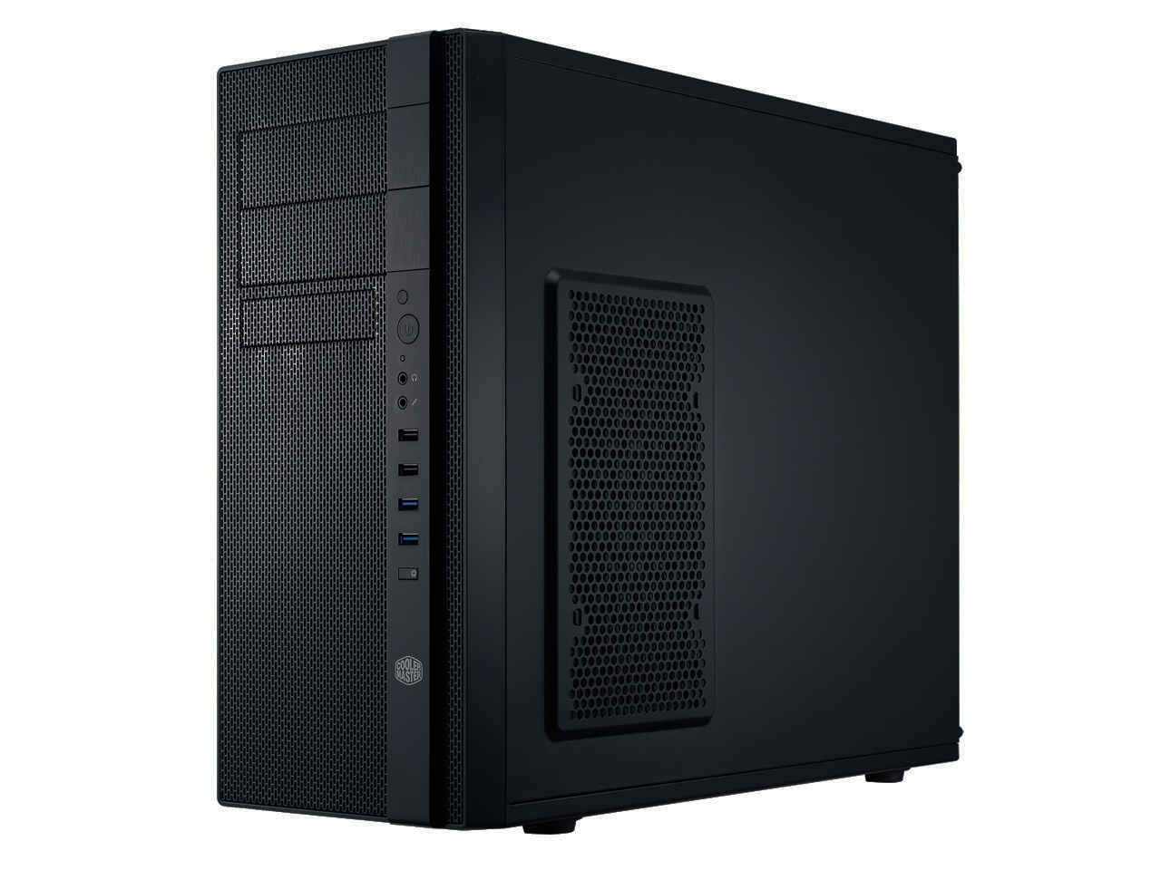 Cooler Master N400 - Mid tower - ATX - no power supply ( ATX / PS/2 ) - midnight black - USB/Audio
