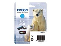 Epson 26XL - XL size - cyan - original - ink cartridge - for Expression Photo XP-760, 860; Expression Premium XP-510, 520, 615, 625, 710, 720, 810, 820