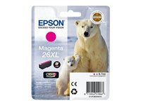 Epson 26XL - XL size - magenta - original - ink cartridge - for Expression Photo XP-760, 860; Expression Premium XP-510, 520, 615, 625, 710, 720, 810, 820
