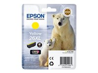 Epson 26XL - XL size - yellow - original - ink cartridge - for Expression Photo XP-760, 860; Expression Premium XP-510, 520, 615, 625, 710, 720, 810, 820