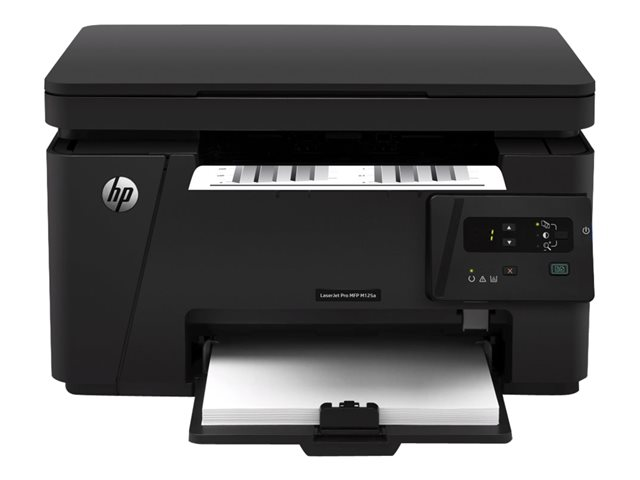 HP LaserJet Pro MFP M125a - Multifunction printer - B/W - laser - 216 x 297 mm (original) - A4 (210 x 297 mm) (media) - up to 20 ppm (copying) - up to 20 ppm (printing) - 150 sheets - USB 2.0