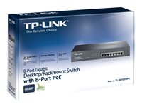 TP-LINK TL-SG1008PE - Switch - unmanaged - 8 x 10/100/1000 (PoE+) - desktop, rack-mountable - PoE+