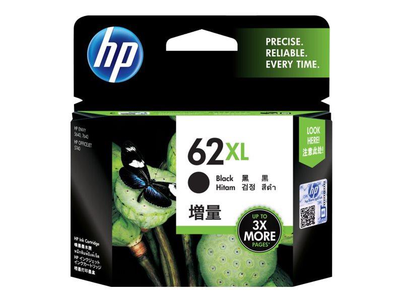 HP 62XL - hoog rendement - zwart - origineel - inktcartridge