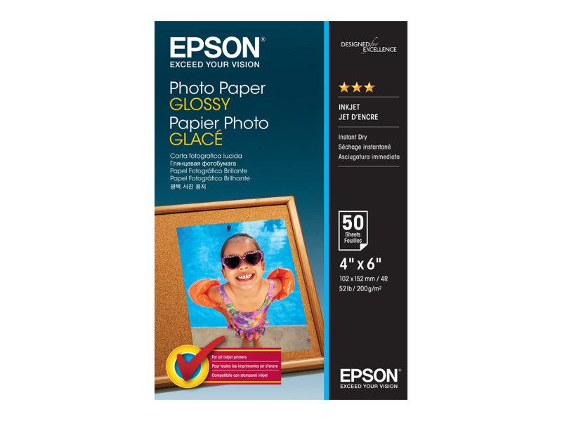 Epson - Glanzend fotopapier - 102 x 152 mm - 200 g/m2 - 50 vel(len) - voor Expression Premium XP-630; SureColor SC-P405; WorkForce Pro WF-6090, 6590