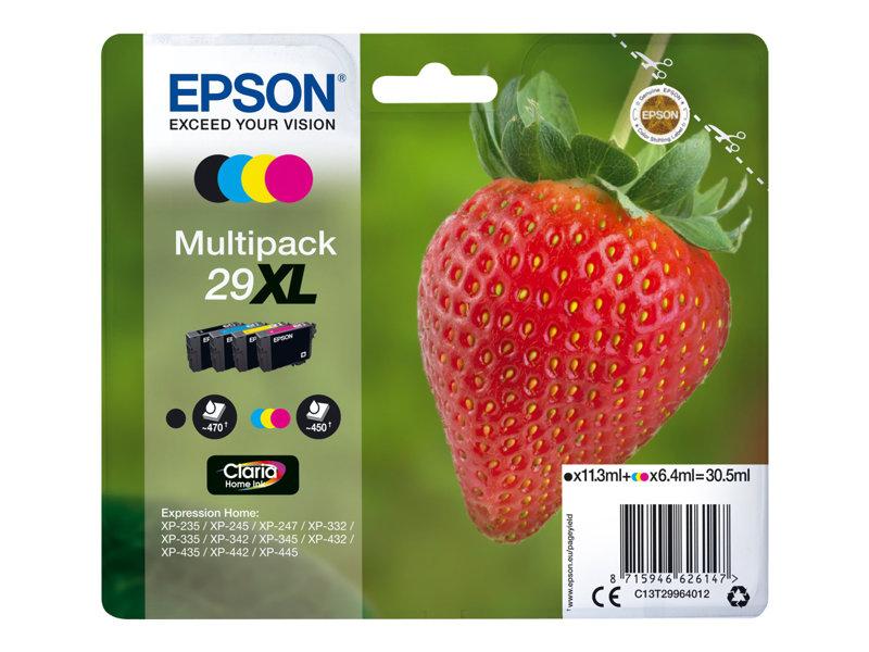 Epson 29XL Multipack - 4 - hoge capaciteit - zwart, geel, cyaan, magenta - origineel - inktcartridge