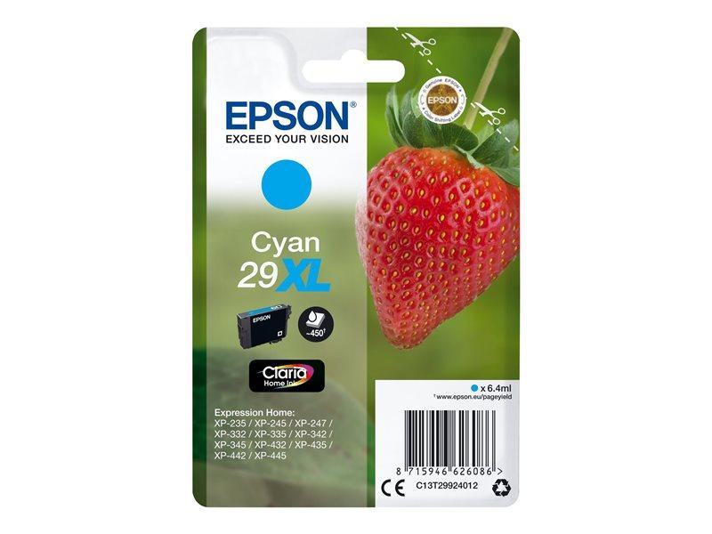 Epson 29XL - hoge capaciteit - cyaan - origineel - inktcartridge