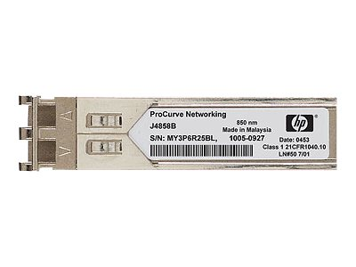 HPE SFP (mini-GBIC) transceivermodule  Gigabit Ethernet 1000Base-LX LC maximaal 10 km voor HPE 1700, 1810, 2530, 2610, 2810, 3500, 42XX, 5406, 6200, 93XX, Switch XL 10/100/1000