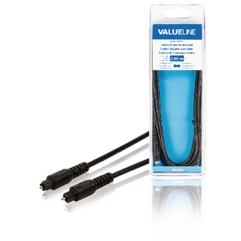 Valueline Digitale Audiokabel TosLink Male - TosLink Male 1.00 m Zwart