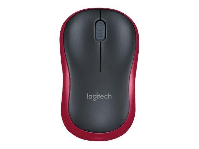 Logitech M185 Wireless Muis nano Red