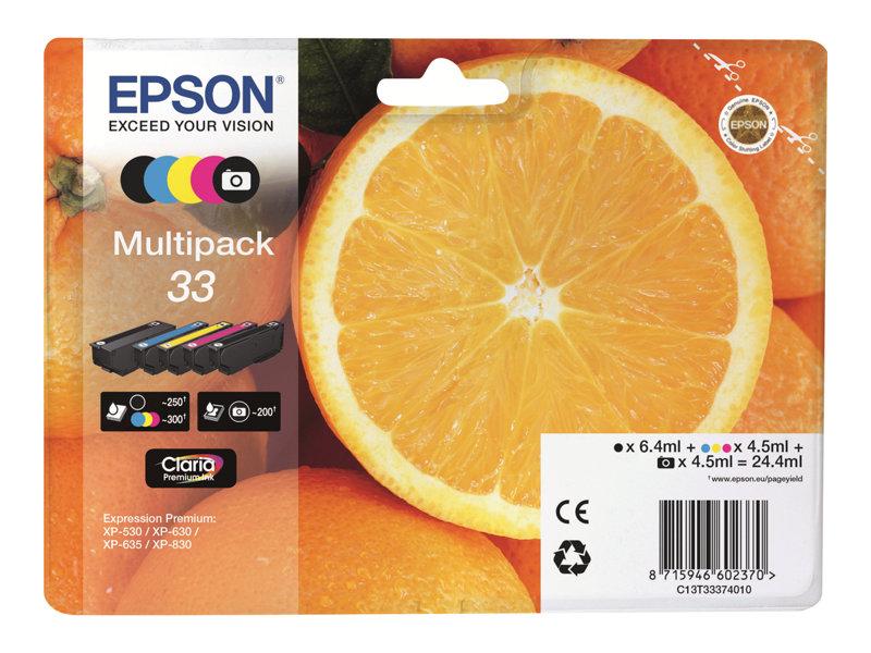 Epson 33 Multipack - 5 - zwart,geel,cyaan,magenta,fotozwart - origineel - inktcartridge