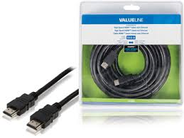 Valueline High Speed HDMI kabel met Ethernet HDMI-Connector - HDMI-Connector 10.0 m Zwart
