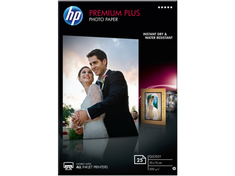 HP Premium Plus Photo Paper - hoogglanzend fotopapier - 25 vel CR677A