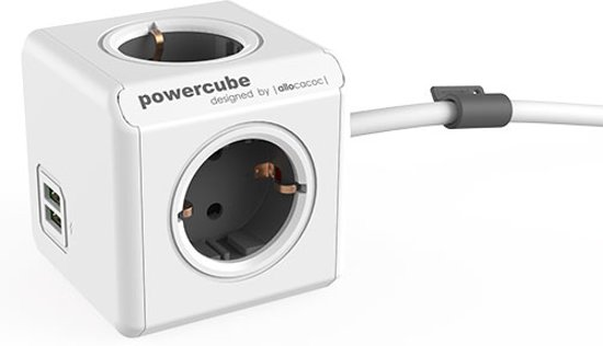 Powercube Ext. USB 1.5m Grijs