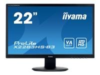 IIYAMA 22 inch 2 ms 1920 x 1080 VGA?HDMI/DISPLAYPORT X2283HS-B3