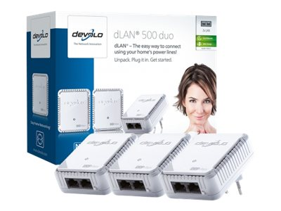 Devolo dLAN 500 duo Network Kit Ethernet 500Mbit/s netwerkkaart & -adapter
