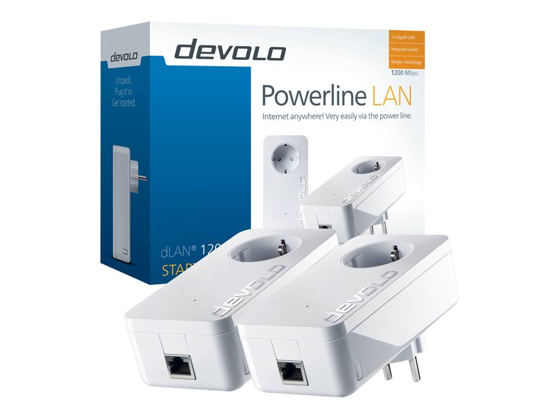 Devolo dLAN 1200+ 1200Mbit/s Ethernet LAN Wit 2stuk(s) PowerLine-netwerkadapter