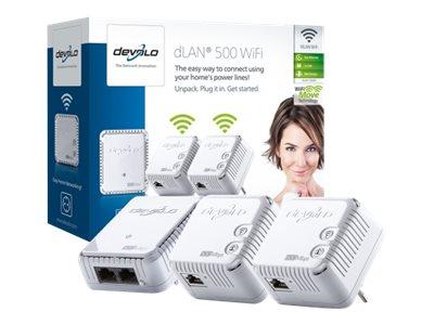 Devolo dLAN 500 WiFi Ethernet 500Mbit/s netwerkkaart & -adapter DEV-9094
