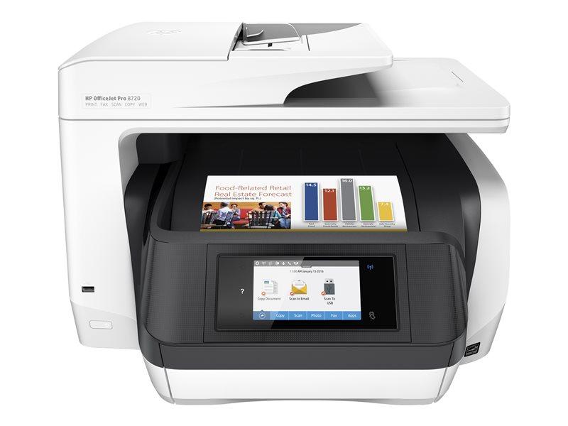 HP Officejet Pro 8720 All-in-One - multifunctionele printer (kleur)