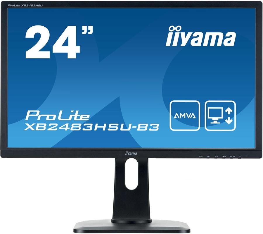 IIYAMA XB2483HSU-B3 24 inch FHD A-MVA  4ms 1920x1080 HDMI, VGA, DisplayPort